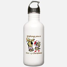 Cow Christmas Water Bottle