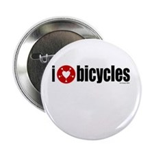 I Heart Bicycles Button
