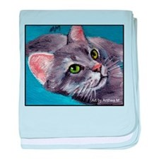 ABYSSINIAN CAT baby blanket