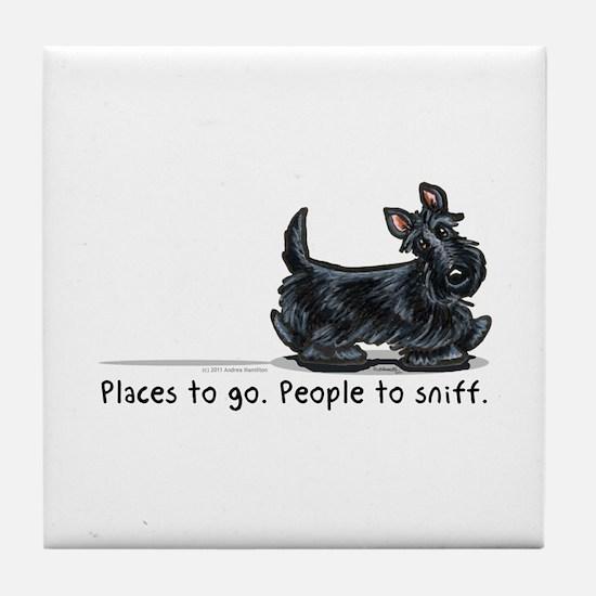 Scottie Places Tile Coaster