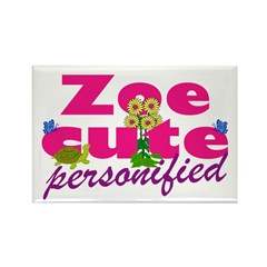 Cute Zoe Rectangle Magnet (100 pack)