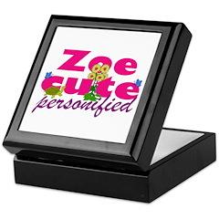 Cute Zoe Keepsake Box