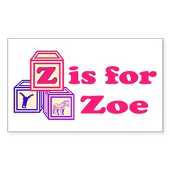 Baby Blocks Zoe Decal