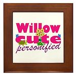 Cute Willow Framed Tile