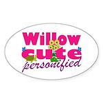 Cute Willow Sticker (Oval 10 pk)
