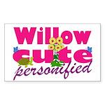 Cute Willow Sticker (Rectangle 50 pk)