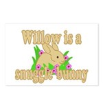 Willow is a Snuggle Bunny Postcards (Package of 8)