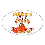 First Halloween Willow Sticker (Oval)
