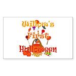 First Halloween Willow Sticker (Rectangle)