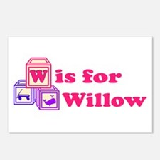 Baby Blocks Willow Postcards (Package of 8)