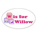 Baby Blocks Willow Sticker (Oval)