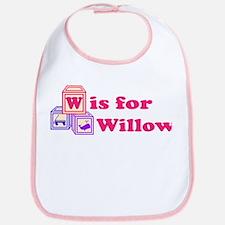 Baby Name Blocks - Willow Bib