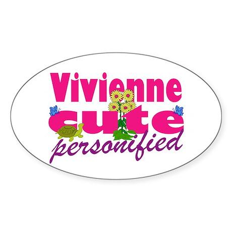 Cute Vivienne Sticker (Oval)