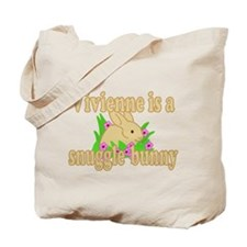 Vivienne is a Snuggle Bunny Tote Bag