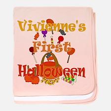 First Halloween Vivienne baby blanket