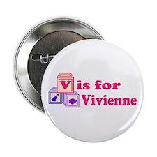 """Baby Blocks Vivienne 2.25"""" Button"""