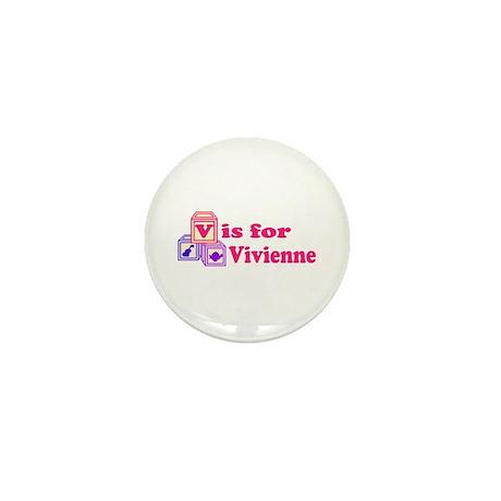 Baby Blocks Vivienne Mini Button (100 pack)