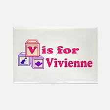 Baby Blocks Vivienne Rectangle Magnet