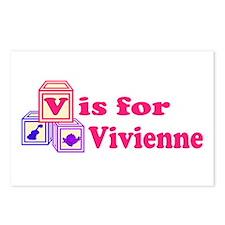 Baby Blocks Vivienne Postcards (Package of 8)