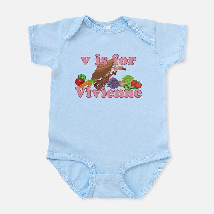 V is for Vivienne Infant Bodysuit
