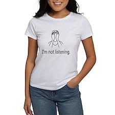 I'm not listening. Tee