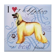 Afghan Hound Tile Coaster