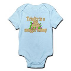 Trinity is a Snuggle Bunny Infant Bodysuit
