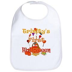 Trinity's First Halloween Bib