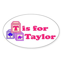 Baby Blocks Taylor Decal