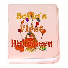 First Halloween Sofia baby blanket