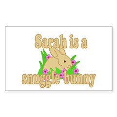 Sarah is a Snuggle Bunny Decal