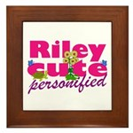 Cute Riley Framed Tile