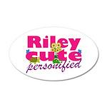Cute Riley 38.5 x 24.5 Oval Wall Peel