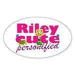 Cute Riley Sticker (Oval 50 pk)