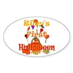 First Halloween Riley Sticker (Oval)