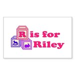 Baby Blocks Riley Sticker (Rectangle 50 pk)