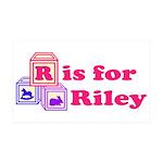 Baby Blocks Riley 38.5 x 24.5 Wall Peel