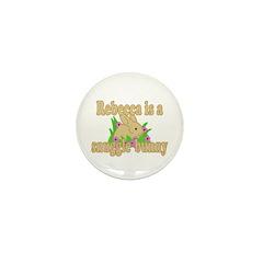 Rebecca is a Snuggle Bunny Mini Button (10 pack)