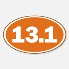 13.1 burnt orange Sticker (Oval)