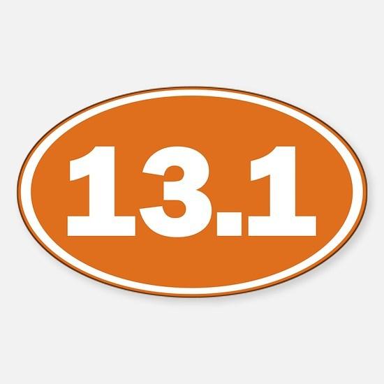 13.1 burnt orange Sticker (Oval)