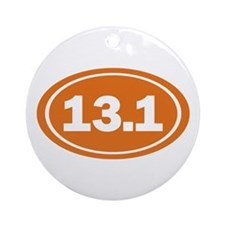 13.1 burnt orange Ornament (Round)