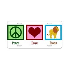 Peace Love Lions Aluminum License Plate