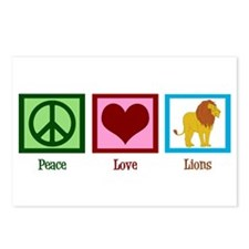 Peace Love Lions Postcards (Package of 8)