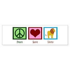 Peace Love Lions Bumper Sticker