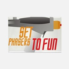 Set Phasers to Fun Rectangle Magnet