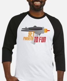 Set Phasers to Fun Baseball Jersey