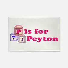 Baby Blocks Peyton Rectangle Magnet