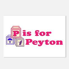 Baby Blocks Peyton Postcards (Package of 8)