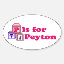 Baby Blocks Peyton Sticker (Oval)