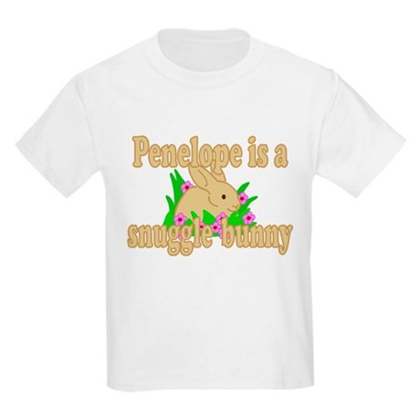 Penelope is a Snuggle Bunny Kids Light T-Shirt